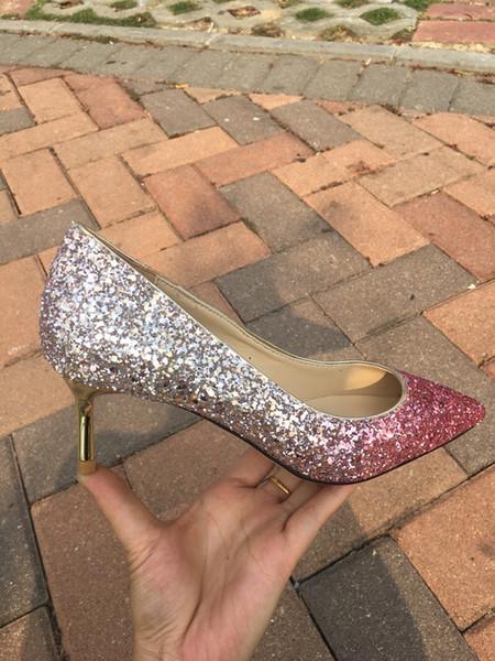 Nueva moda caliente diseñador de lujo fondos inferiores rojos tacones altos talón negro nude bombas de la boda vestido de mujer zapatos de mujer fh19022708