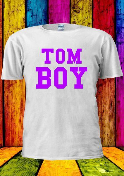 TomBoy TOM мальчик лесбиянка девушка фиолетовый футболка жилет Майка Мужчины Женщины унисекс 2069 размер discout горячая новая футболка топ бесплатная доставка футболка