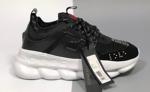 Коробка с поясом 2019New Chain Reaction мужские дизайнерские туфли повседневная кроссовки