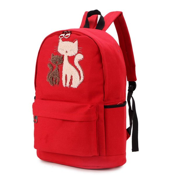 Women Backpack Cute Cat Pattern Casual Fashion Canvas Backpack College Students School Bag Fashion Bags for Women ZK50