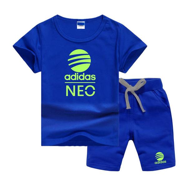 AdidasLogo Ropa de diseño para niños Conjuntos de ropa para niños Ropa de verano para bebés Estampado para niños Conjuntos Camiseta de moda para niños Pantalones cortos Trajes para niños