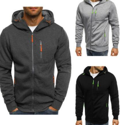 top popular 2020 Men's Casual Hooded Hoodie Hoody Winter Warm Sweater Zip Jacket Coat Sweatshirt Outwear M-3XL 2020