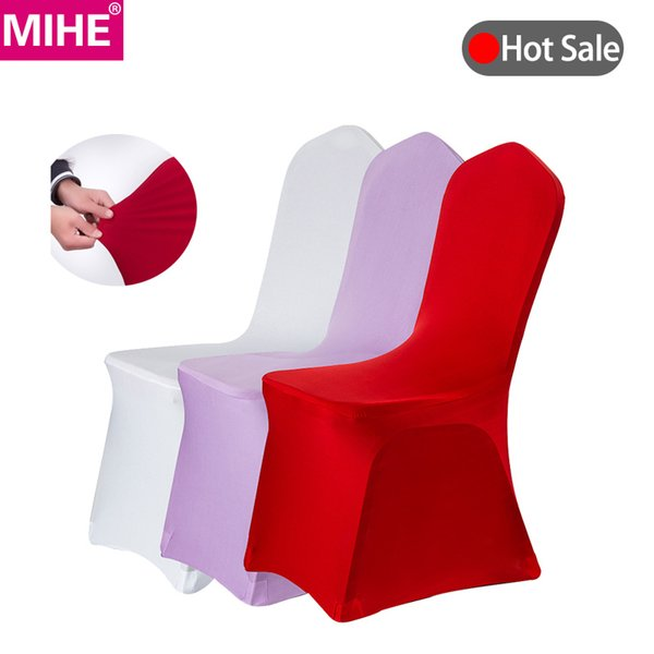 Excellent Mihe Modern Wedding Banquet Chair Cover Spandex Stretch Elastic Chair Covers Hotel Kitchen Dining Seat Covers Outdoor Yzt06A Chaircovers Seat Covers Short Links Chair Design For Home Short Linksinfo