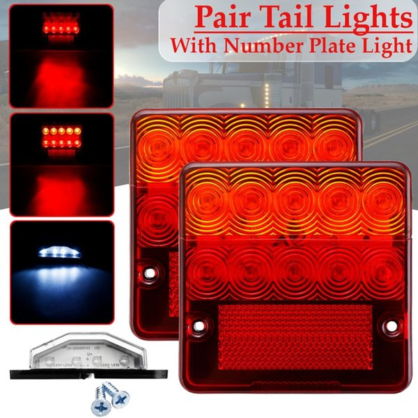 2x 12v new waterproof durable car truck led rear tail light warning lights lamp for trailer caravans ute campers atv boats truck
