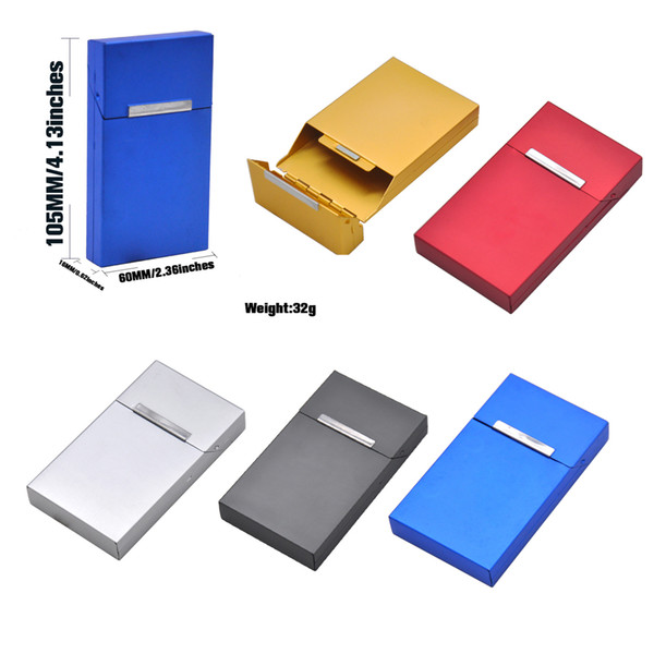 New Arrival Metal Cigarette Case Portable Women Slim Cigarette Box Smoking Accessories 60mm Diameter Holding 20 Cigarette