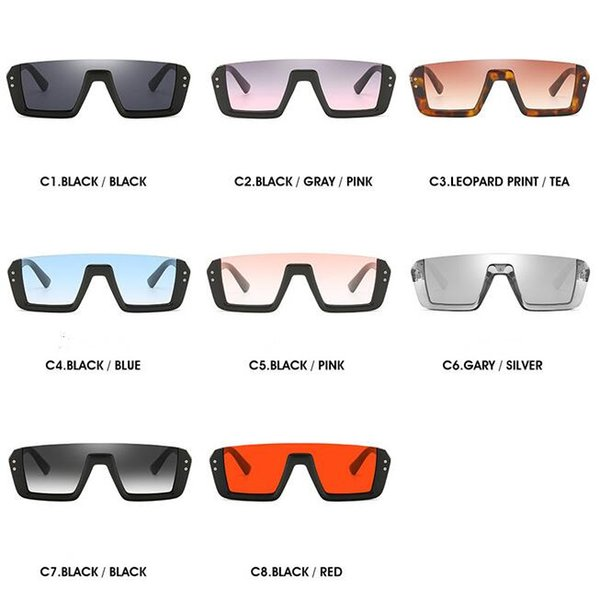 top popular 8 Colors Personalized Half Frame Sunglasses Trendy Unisex Sunglasses Fashion Square Sunglasses Outdoor Eyewear CCA11719 50pcs 2019