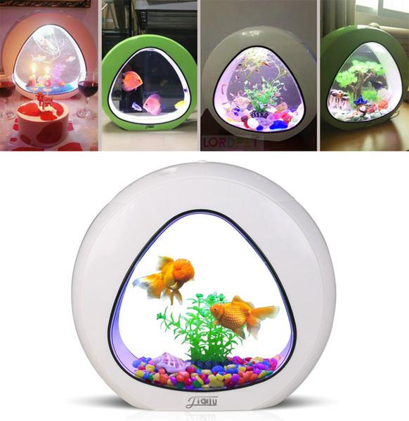 4L Mini Nano Tank Ekoloji Için Beta Balık Entegrasyon Filtre LED Işık Sistemi Ofis Akvaryum 110 V 240 V Akvaryum 4L Mini Nano