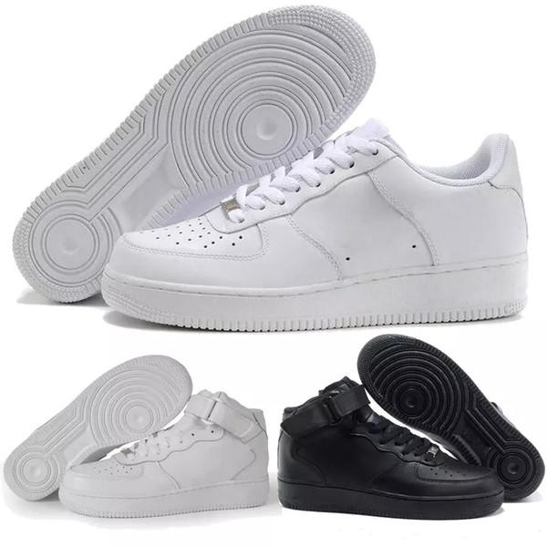 Großhandel Nike Air Force 1 Af1 Flyknit 2019 Hohe Qualität Neue Klassische All High Und Low Weiß Schwarz Weizen Männer Frauen Sport Laufschuhe Forcing