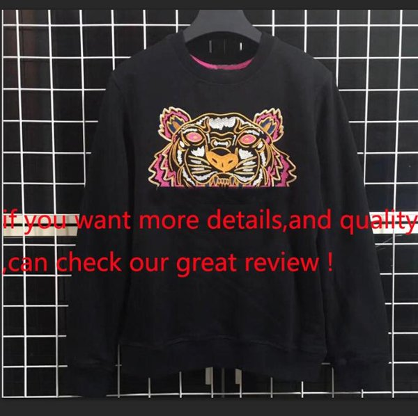 Markemens Entwerferhoodies-Sweatshirt Männer Tiger-Kopf-Stickerei-Augen-Winter-Frauen Hoodie mit K O Brief Designer Street Jogger Tops