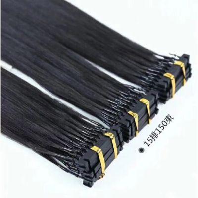 Extensiones de cabello humano de color negro de calidad superior # 1 6D 12-26 pulgadas Extensiones de cabello remy sedoso invisible invisible 200Grams Lote, DHL gratis