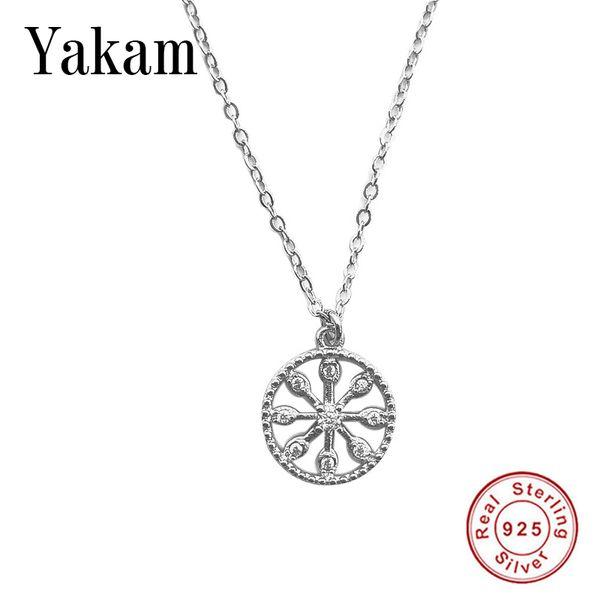 Изящные 925 стерлингового серебра ожерелье женщин девушки милые ясно кристалл CZ Колье цепи кулон подарки ювелирные изделия collares де Moda 2019