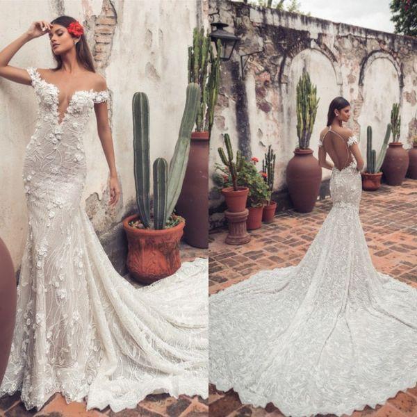 julie vino 2019 gorgeous mermaid wedding dresses sheer neck lace 3d floral appliqued bridal gowns bohemian beach custom made wedding dress