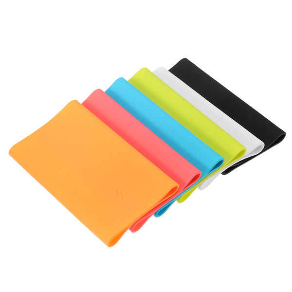 For Xiaomi Power Bank 2 10000 mAh Soft Silicone Protective Anti-slip Case External Battery Cover Screw Thread Colourful Skin