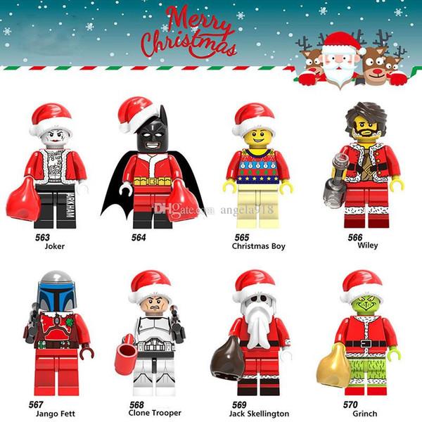 The Grinch Building Blocks cartoon Blocks Toys 8 styles Bricks for children kids Christmas birthday gift C5702