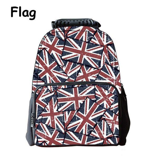 iMaySon Durable Schoolbag 3D Printing England Flag Casual Kid Unisex Boy Felt Backpack Printing Shoulders Bags School Girls Teenager Retail