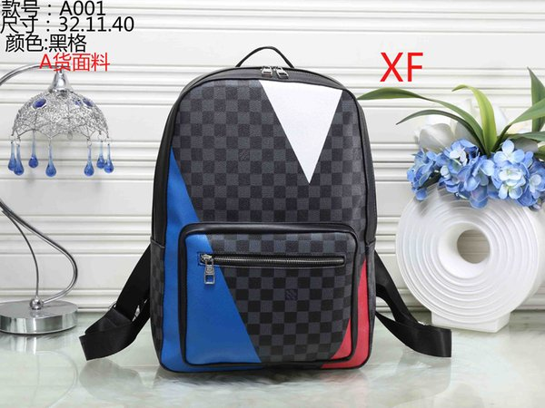 Best selling European fashion brand designer men's backpack high quality three color bag free shipping fast delivery
