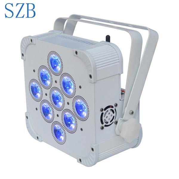 SZB 9X10W 4 in 1 RGBW Wireless DMX Batteriebetriebene Par Light / SZB-WBPL0910