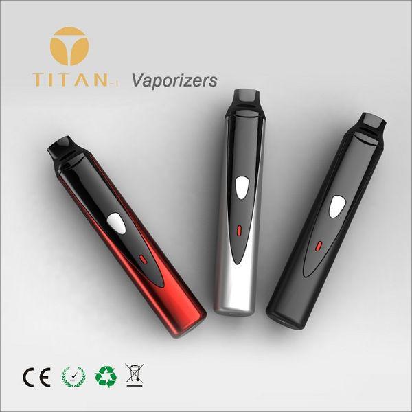 Promotional dry herb vaporizer pen mod kit Titan-1 2200mah battery with temperature control ceramic heating chamber vape pens