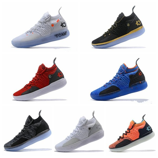 875f1af9865 2019 2019 New KD 11 EP White Orange Foam Pink Paranoid Oreo ICE Basketball  Shoes Original Kevin Durant XI KD11 Mens Trainers Sneakers Size 7 12 From  Coatus