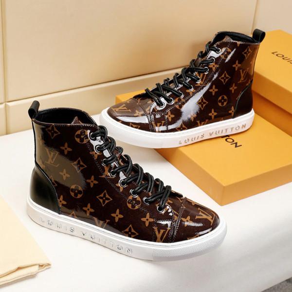 Mens Shoes Boots Footwears Высокий топ Zapatos de mujer Татуировки кроссовки ботинки Мужская обувь на шнурках с оригинальной коробкой M # 37 ботильоны Vintage