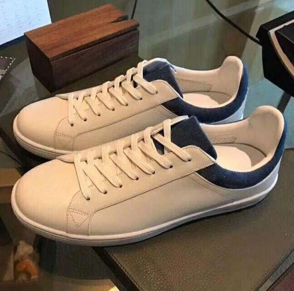 Calzados informales de la zapatilla de deporte fastlane Monogram Denim diseñador de lujo de los hombres atan para arriba las zapatillas de deporte de moda para hombre de Formadores de diseño zapatos al aire libre T05