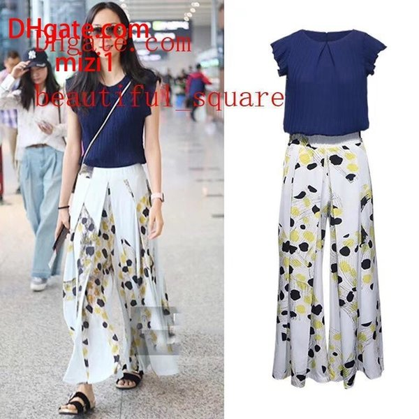 abiti estivi di marca abiti estivi a due pezzi pantaloni a due pezzi da donna set da donna top nuovi pantaloni a gamba larga moda abiti da donna MA-46