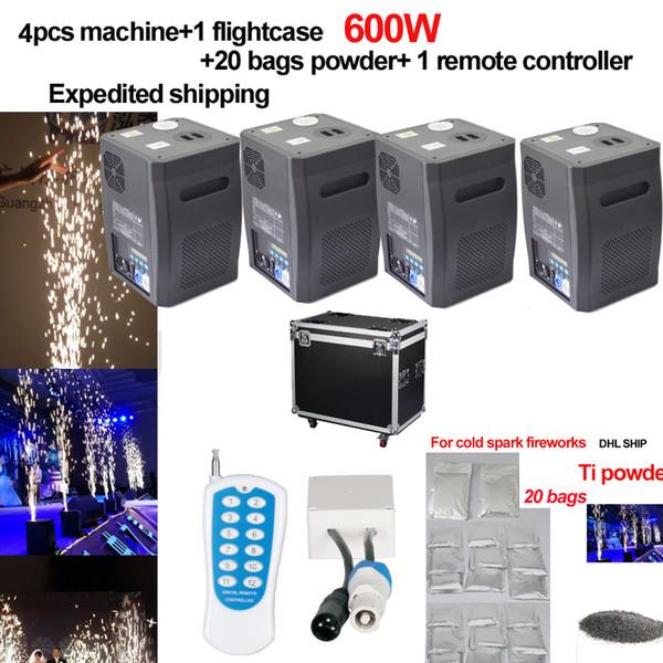 600w intérieur / extérieur étincelle froid feu d'artifice machine mariage flamme fontaine DMX télécommande contrôleur froid pyro 110 V 220 V