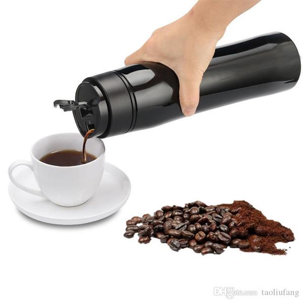 Tuffatore di caffettiera vuoto portatile in acciaio inossidabile con filtro a doppia parete caffè caffè tazza da viaggio tè