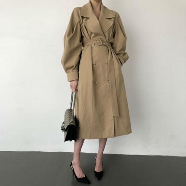Темперамент Мода Пальто для Женщин Осень Новый 2019 Wild Ladies Ветровка Корейского Стиля Повседневная винтажная Офисная Одежда