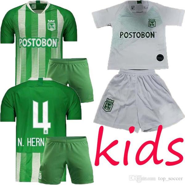 2019 2020 Atlético Nacional kids Medellín Fútbol kids para niños MORENO TORRES RENTERIA LUCUMI 19 20 Colombia Club Medellín maillot de foot