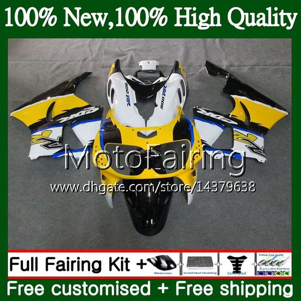 Yellow white Body For HONDA CBR 893RR CBR900RR CBR893RR 94 95 96 97 71MF14 CBR 893 CBR900 CBR893 RR 1994 1995 1996 1997 Fairing Bodywork