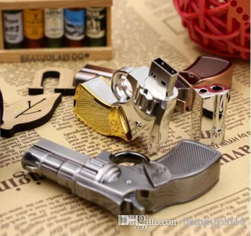 All discout Top quality Brand New cool Pendrive Gun Shaped 16GB 32GB USB Flash Drive 16 32 64 GB Stick Flash Memory Disk Pen Drive