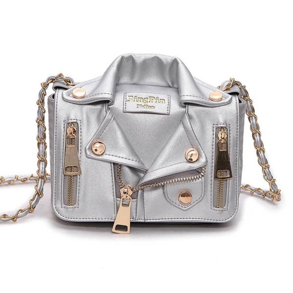 Personalized Fashion Fun Lapel Jacket Styling Messenger Bag Women Handbag Purse Chains Women Shoulder Bag Lady Cross Body Bags