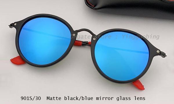 matte black/blue mirror