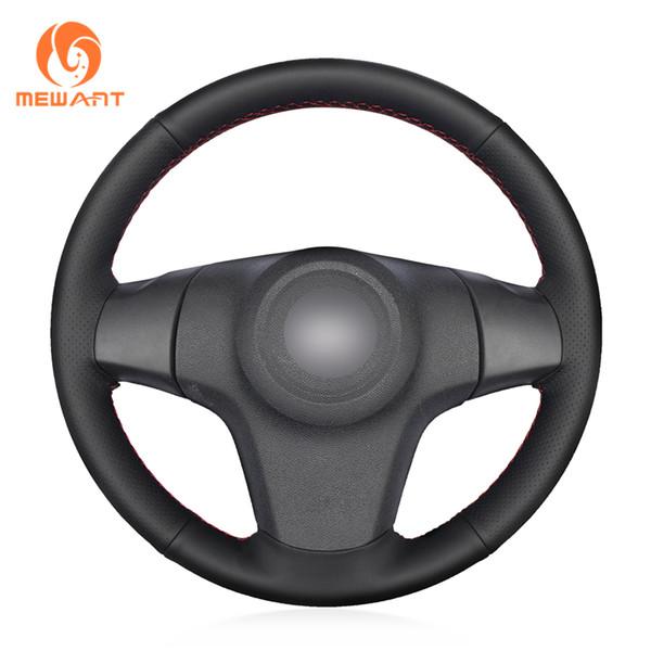 Couvre volant de voiture en cuir artificiel noir pour Niva 2009-2017 (à 3 branches) Vauxhall Corsa (D) Corsa (D)