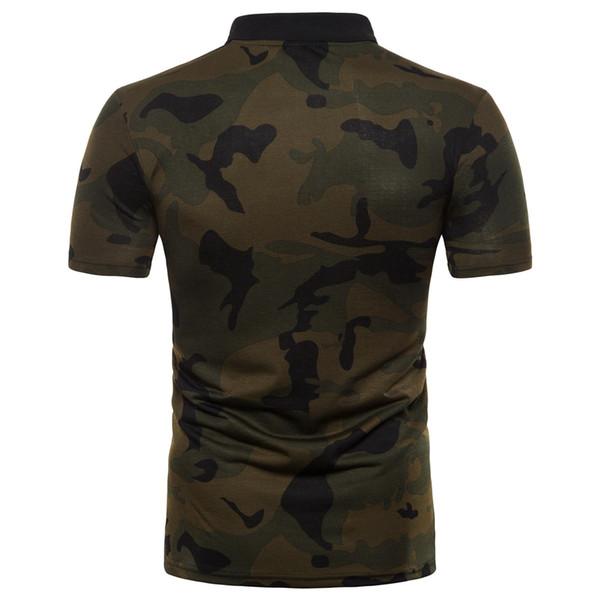 Camouflage Designer Men Polos Shirt Short Sleeve Summer Green New Men Slim Fit Polos Plus Size S-2XL
