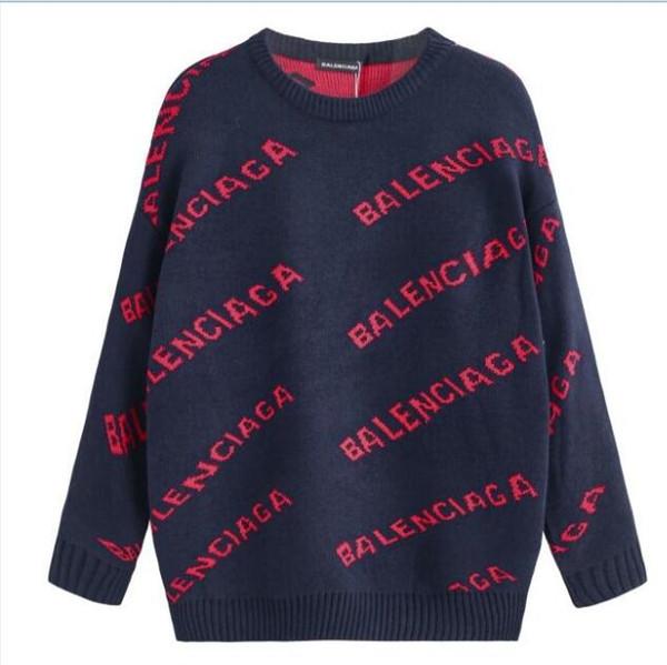 популярный бренд мужчины свитера с длинными рукавами мода мужчины толстовки с тегами фирменная толстовка пуловер женщины свитер Мужская одежда Бесплатная доставка