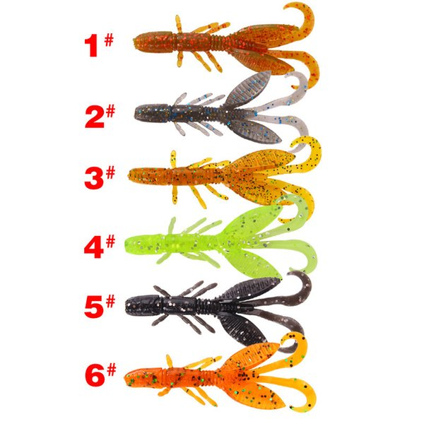 Shrimp Soft Baits Fishing Lures Shads Wobblers Crankbaits For Carp Fishing Weichen Garnelen Artificial Squid Pesca 1pc