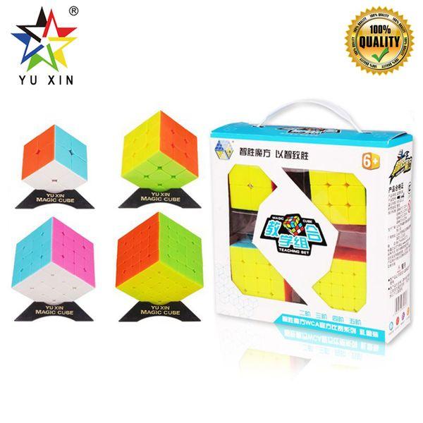 2019 YUXIN Speed Cube Set 2x2x2 3x3x3 4x4x4 5x5x5 Puzzle Enigma Cube Profissional 4 pcs Brinquedos Educativos Fidget Brinquedos Cubo Mágico