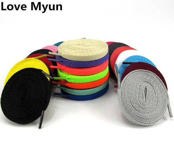 High Quality Shoelaces Sport Canvas Shoes Laces Flat Shape White Black Red Blue Green Yellow Orange Purple Brown Shoelaces