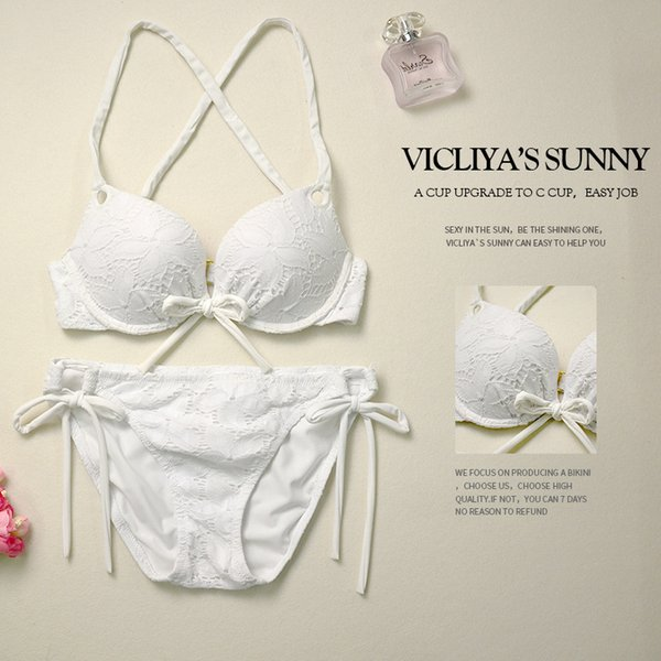 Amazon Spot Bikini 2018 New Blockbuster Sexy Euramerican Open Lace Swimming Suit A Hair Substitute