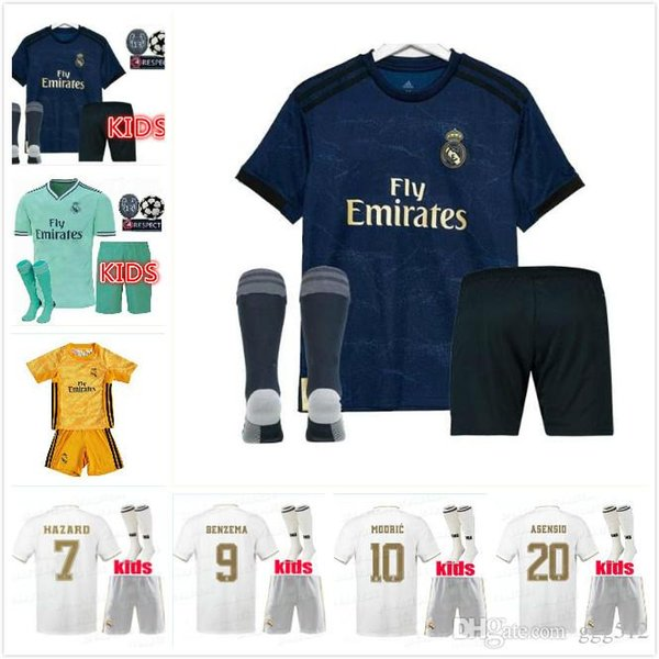 2019 2020 cami eta real madrid hazard kid kit occer jer ey 1