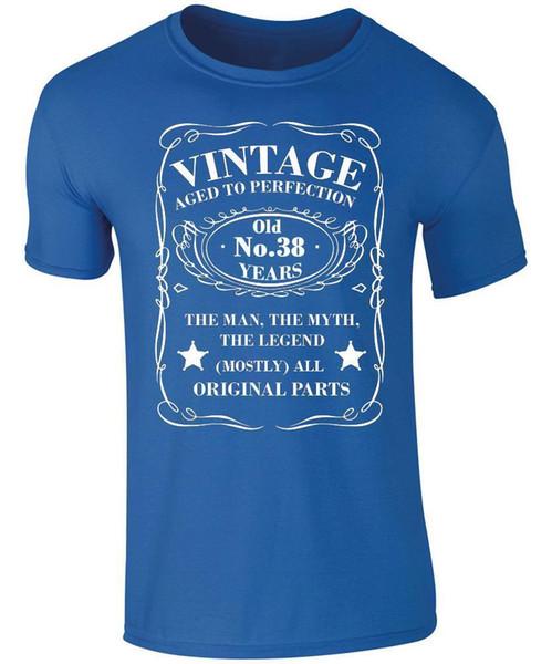 Großhandel Jahrgang 38 Jahre Alt T Shirt 38 Geburtstag T Shirt 38 Geburtstag Geschenk Lustig Kostenloser Versand Unisex Casual Von Fastshipdirect