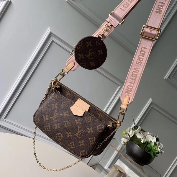 hot best qualtiy bags three bags one price Men And Women Messenger Bag Messenger Shoulder Bag Chain Retro Real Leather coin wallet M44823
