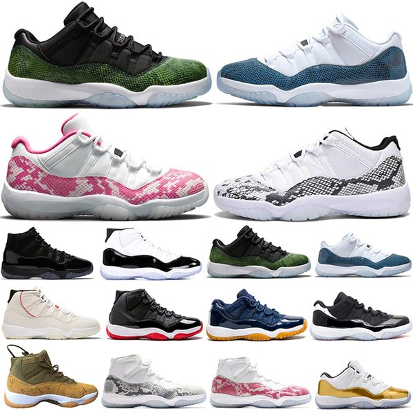 Top Fashion Drake 11 Marine Rose Snakeskin 11s Concord 45 Baskets Femmes Chaussures de Basketball Casquette et Robe Platine Teinte Sports Hommes Entraîneur Baskets