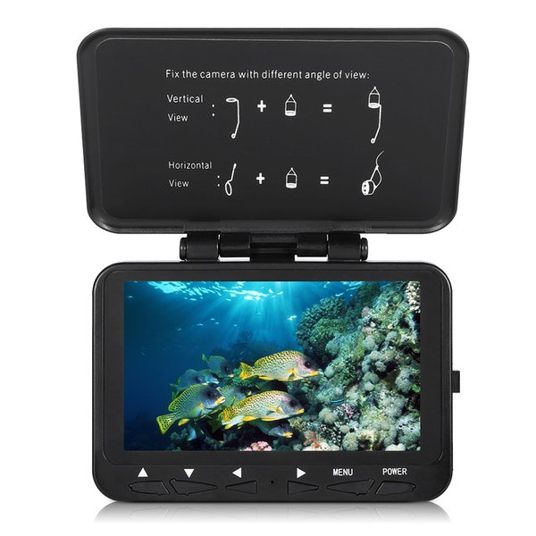 "1000tvl fish finder underwater ice fishing camera with trolling reel 4.3"" lcd monitor 8 infrared ir leds night vision camera thumbnail"