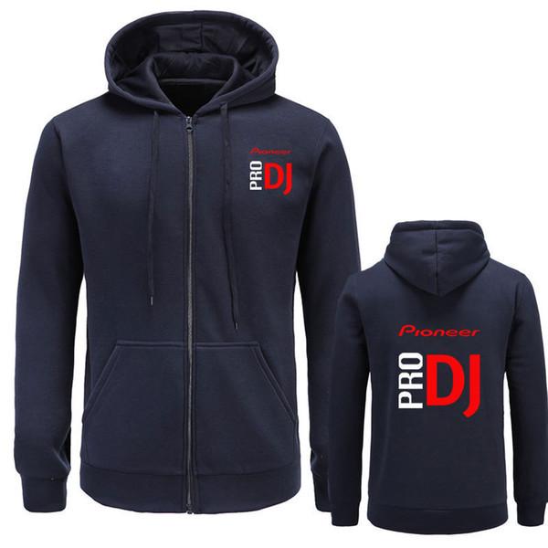 Mens Rock Rapper DJ PRO Designer Hoodies Cardigans Hooded Zipper Up Sweatshirts