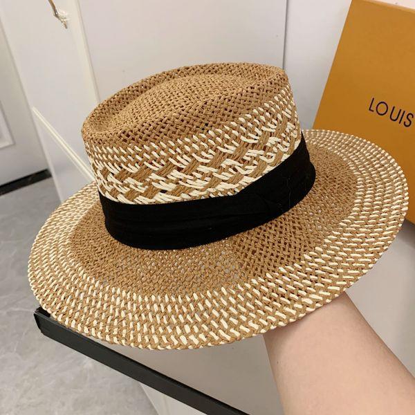 chapéu de palha cáqui