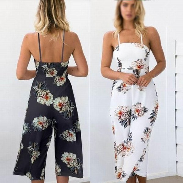 One Piece Jumpsuit Beach Dress New Fashion Sexy Women Clubwear Summer Sleeveless Loose Party Jumpsuit Playsuit Beach Trouser S32