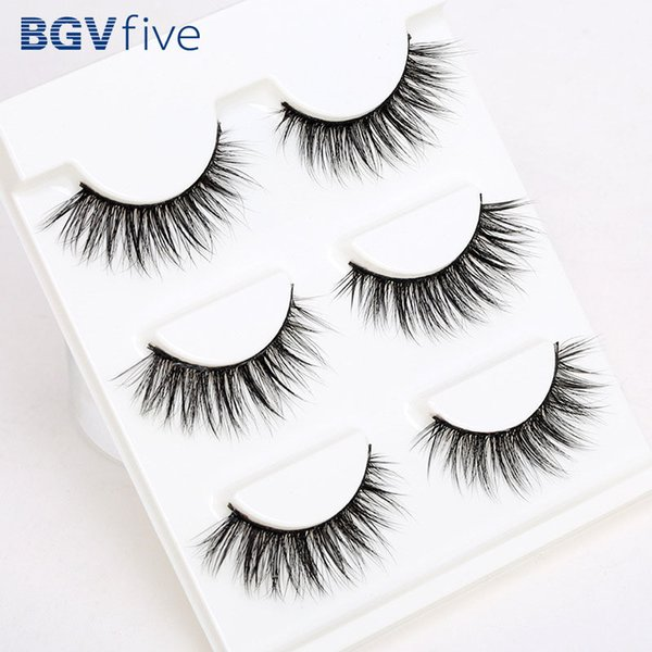 3 or 5Pairs Support wholesale&single Natural Bushy Makeup Cross False Eyelashes Eye Lashes Black Soft Natural False Eyelashes D19011701